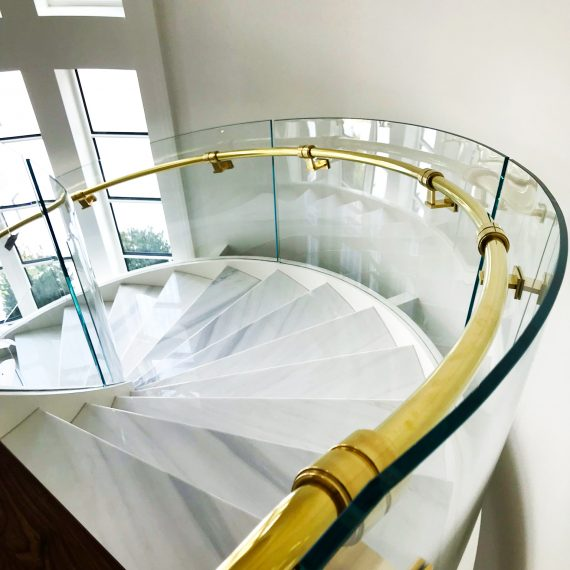 Curved Stair Railing