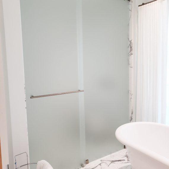 Frosted Sliding Shower Door